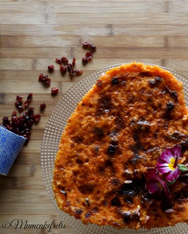 bacche di cramberry con torta di riso dolce carrarina massese