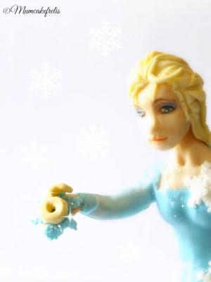 frozen elsa disney pasta di zucchero topper per torta decorata cake design  cake topper