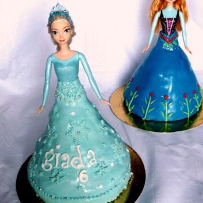 Elsa e Anna doll cake