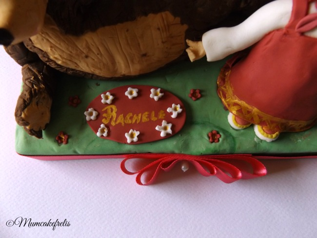 torta masha e orso, cake topper Masha and bear,Masha and the bear cake topper fondant pasta di zucchero torta decorata, Cartoons Cake