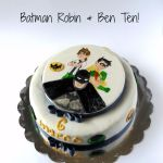 Torta con Batman, Robin & Ben Ten