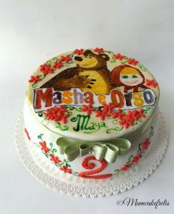 Masha & Bear cake