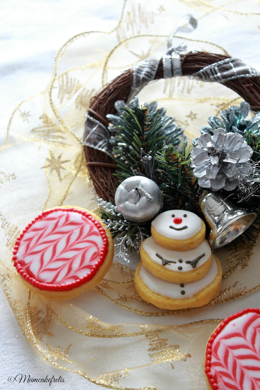 tutorial snowman cookie