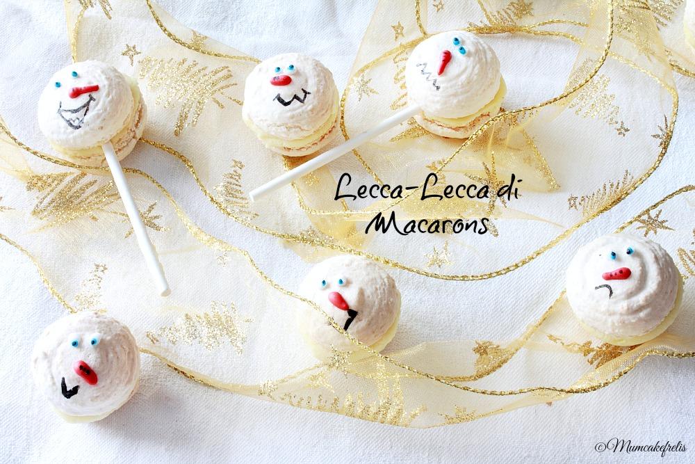 snowman macaron