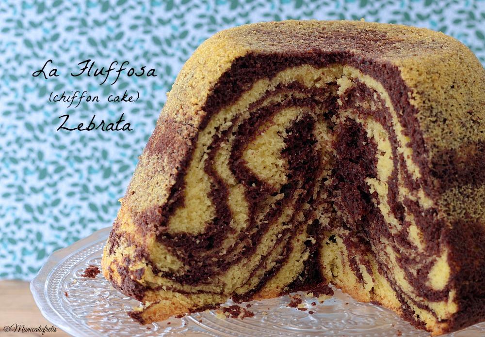 Fluffosa Chiffon cake zebrata