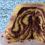 Fluffosa (chiffon cake) zebrata