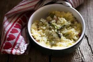Risotto uova e asparagi