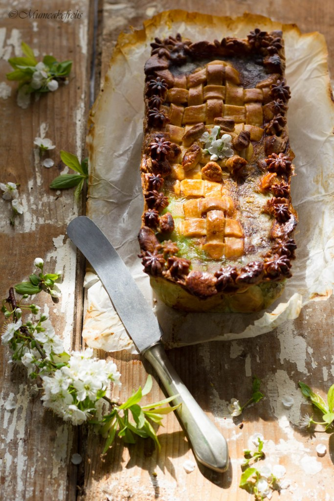 interno della terrina di carne in crosta