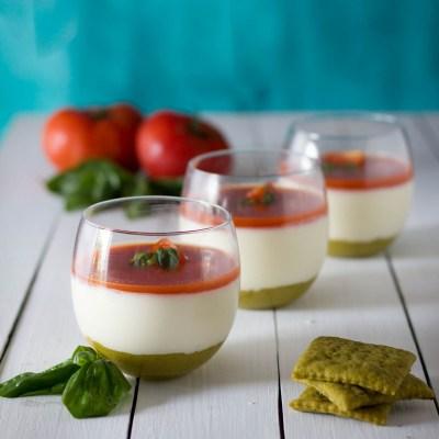 Caprese cheesecake: antipasto salato tricolore
