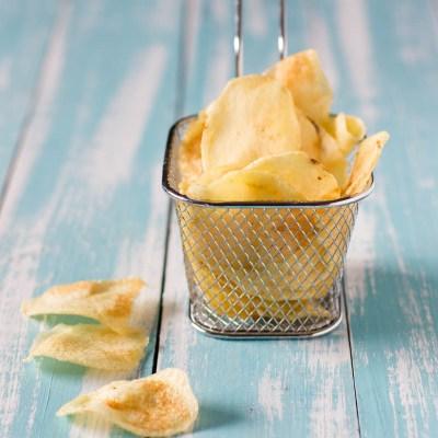 Patate chips fatte in casa, patatine croccanti come quelle in busta!                                        4.86/5(7)