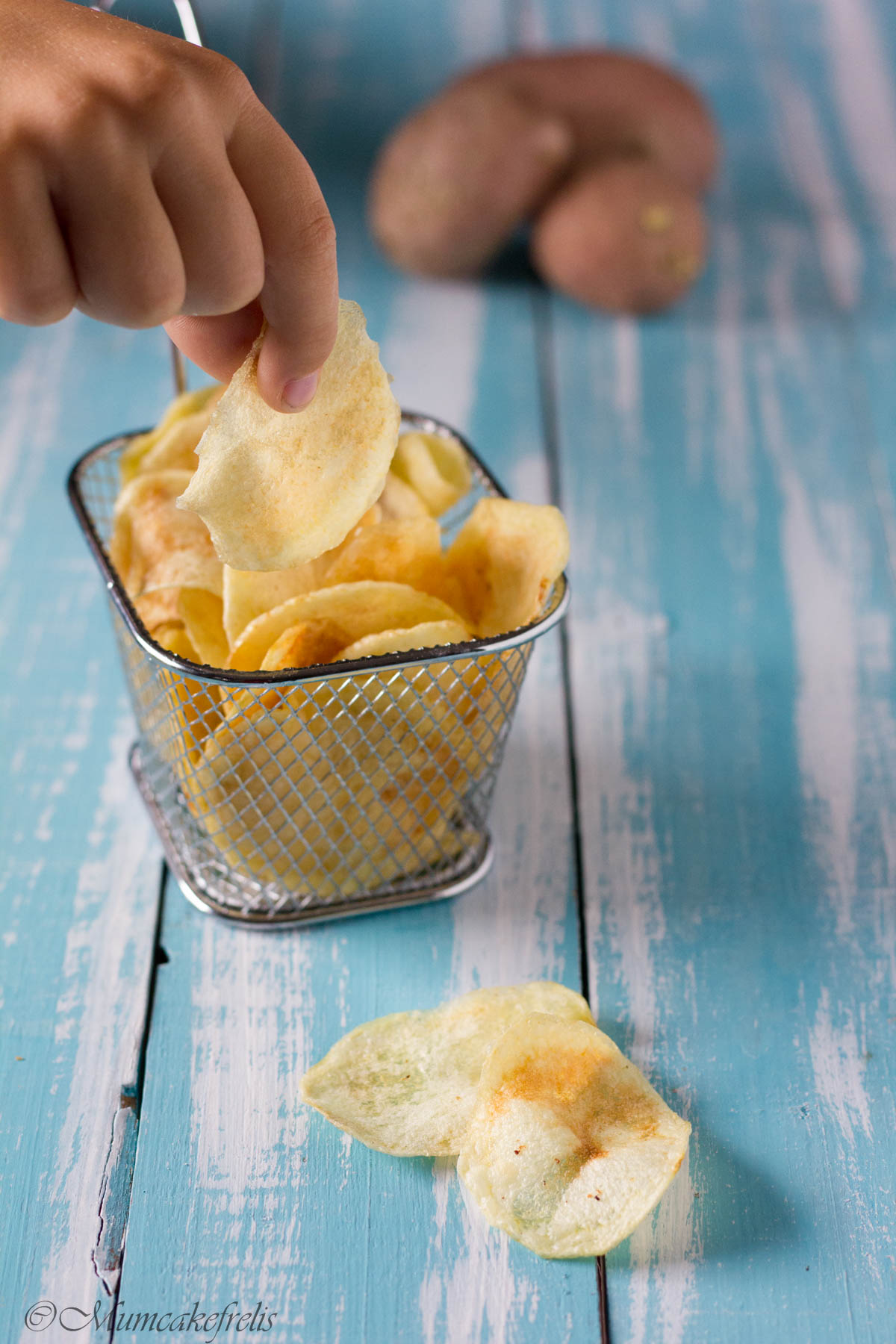 patatine fritte chips in casa