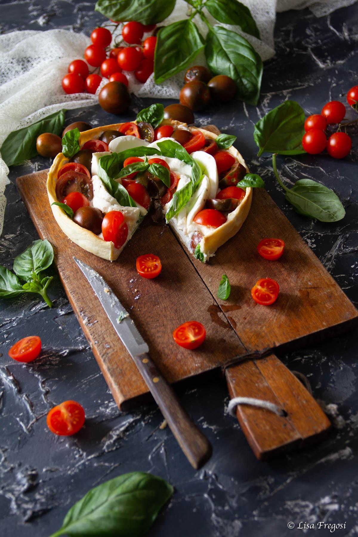torta salata con caprese