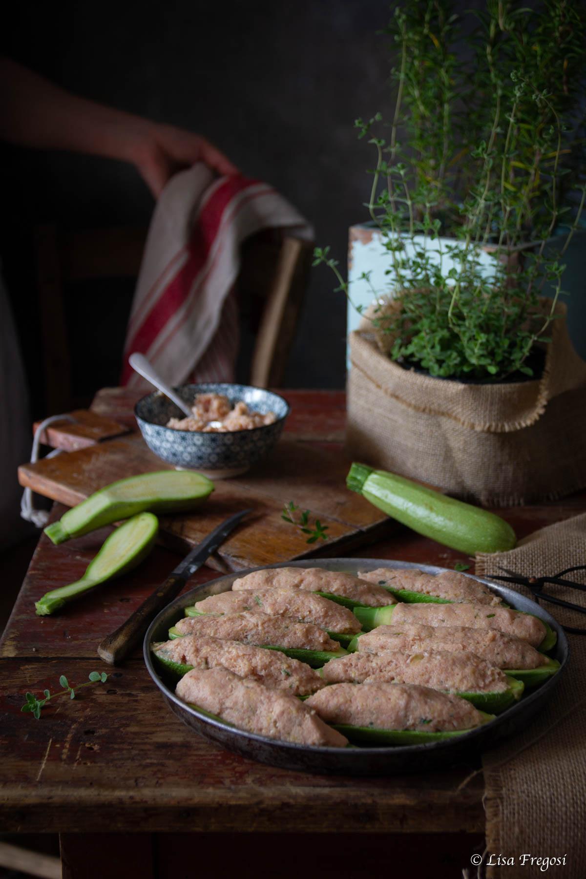 ricetta tradizionale ligure: le zucchine ripiene
