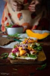 ricetta dell'open sandwich al melone e pesce spada affumicato