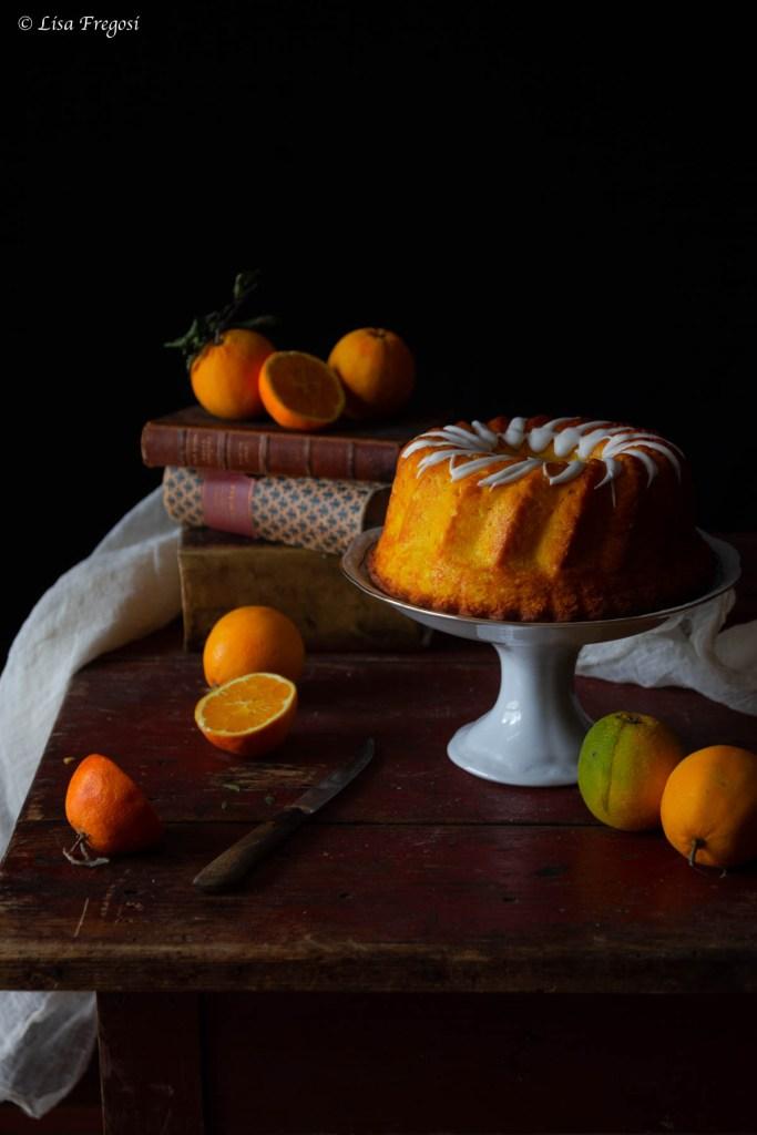 La chiffon cake americana con succo di arancia