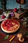 crostata morbida ricetta furba con confettura e susine rosse