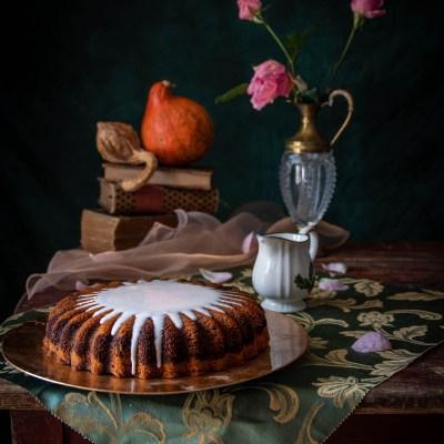 Torta variegata alla zucca e cacao