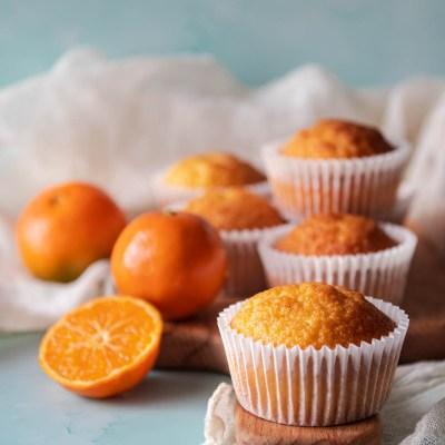 Cupcake ai mandarini, soffici e senza lattosio