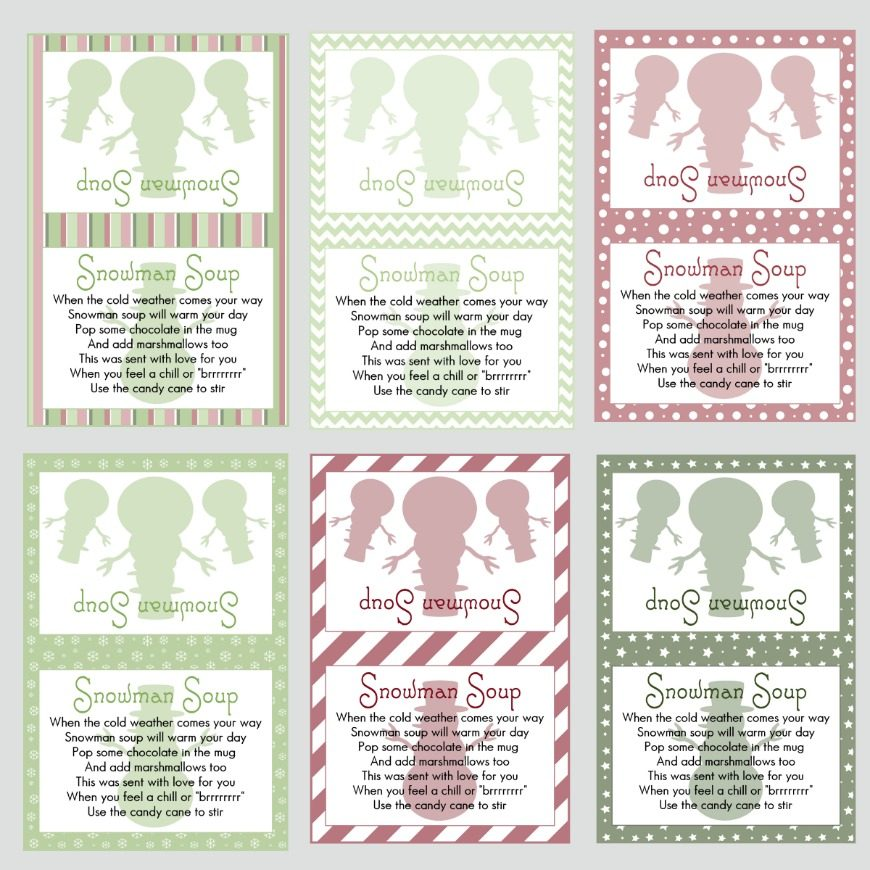 image regarding Snowman Soup Free Printable Bag Toppers titled Snowman Printable Labels