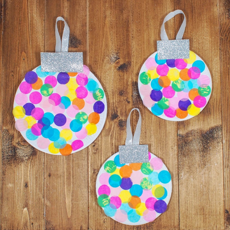 Simple Paper Christmas Ornaments