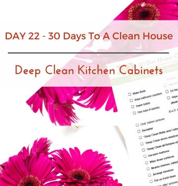 Deep Clean Kitchen Cabinets
