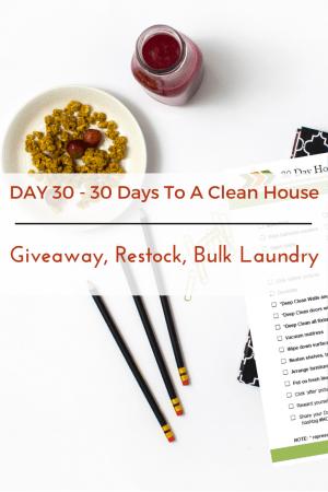 Giveaway, Restock, Bulk Laundry