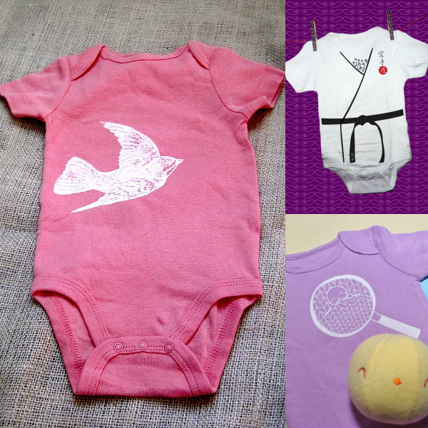 cute baby vests onesies screen print
