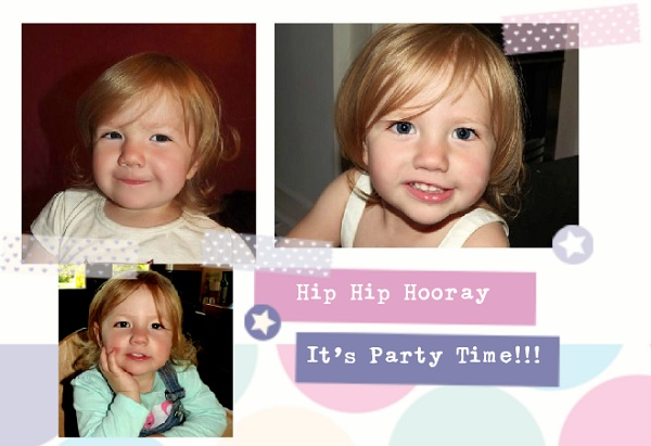 Papershakers personalised party invite