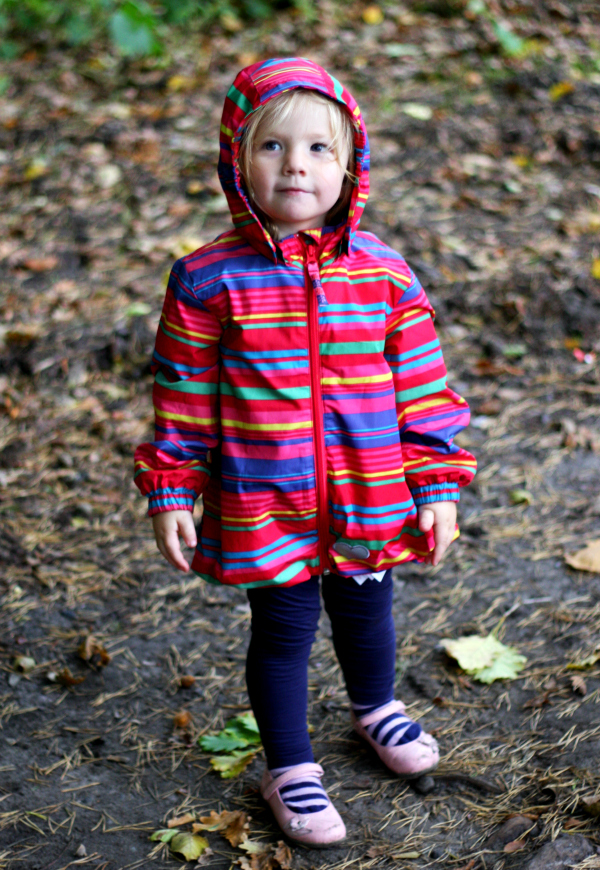 Silent Sunday Amy in her new rain mac