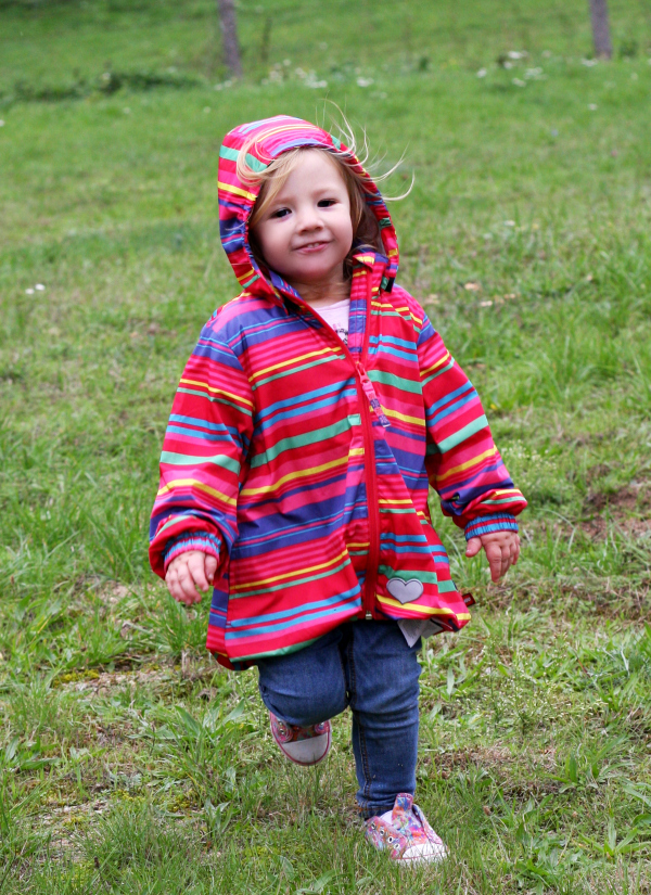 Amy running around in the allotment