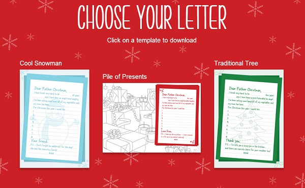 christmas activities write a letter to santa
