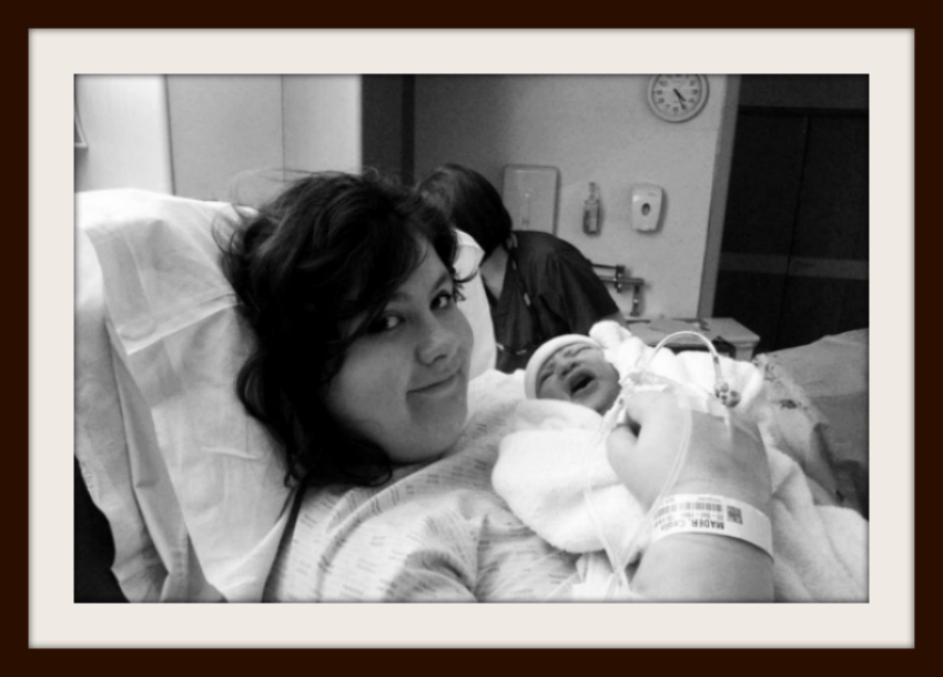 The Day that Amy was born - our first photo