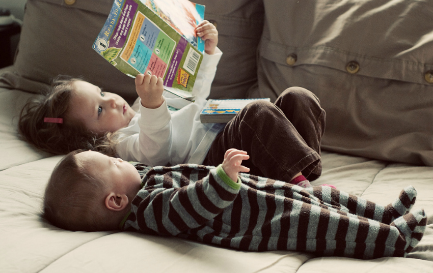 reading with little ones, help kids develop healthy habits