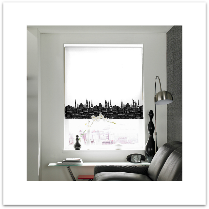 cityscape roller window blind from Curtains-blinds.co.uk