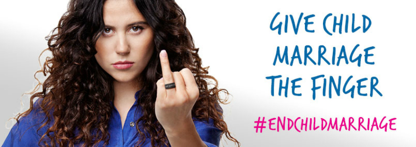 end child marriage, show early marriage the finger