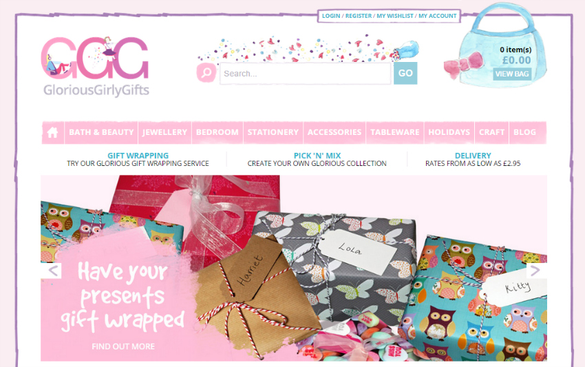 Win a prize bundle with GloriousGirlyGifts