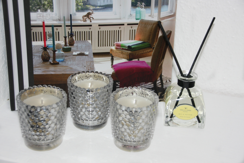 pied a terre home scents, reed diffusers and votive candles