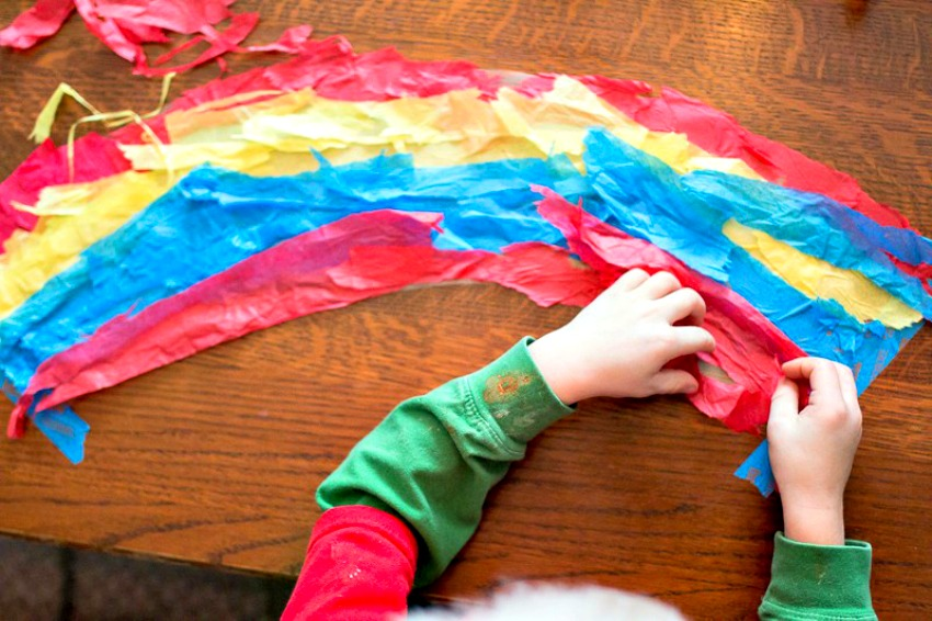 parenting pin it party rainbow crafts
