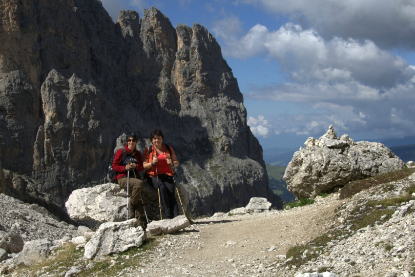 Plattkofel, Mount Sasso Piatto, hiking, wandern, South Tyrol, Südtirol