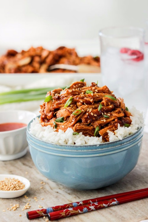 slow cooker recipes asian sweet chili sesame chicken