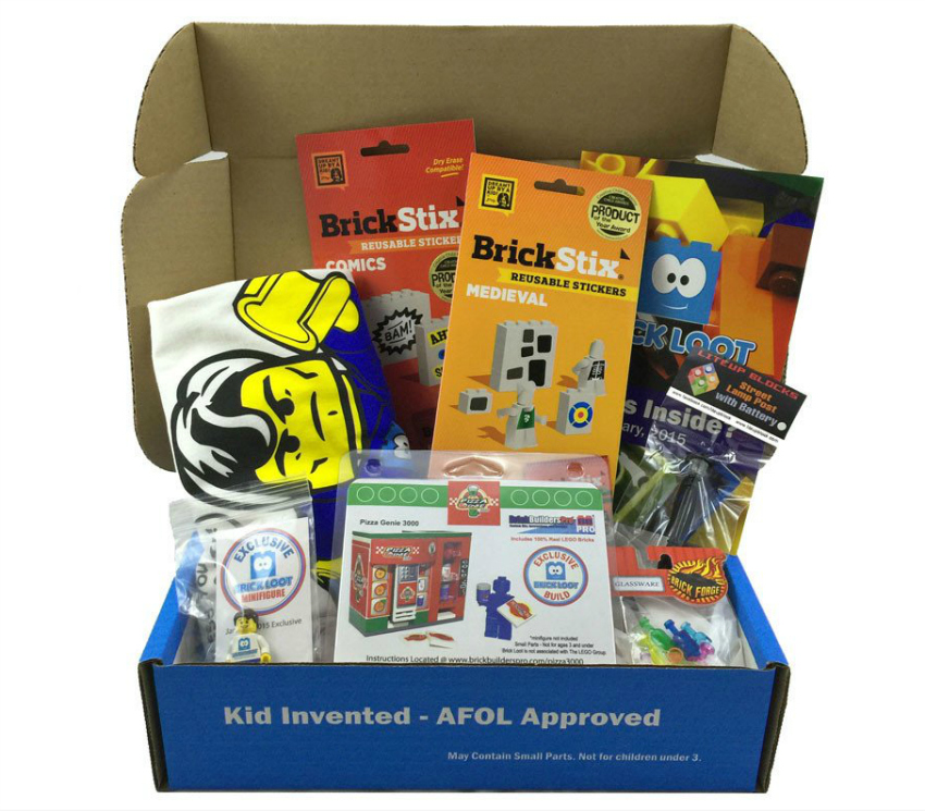 subscription box for kids - brick loot