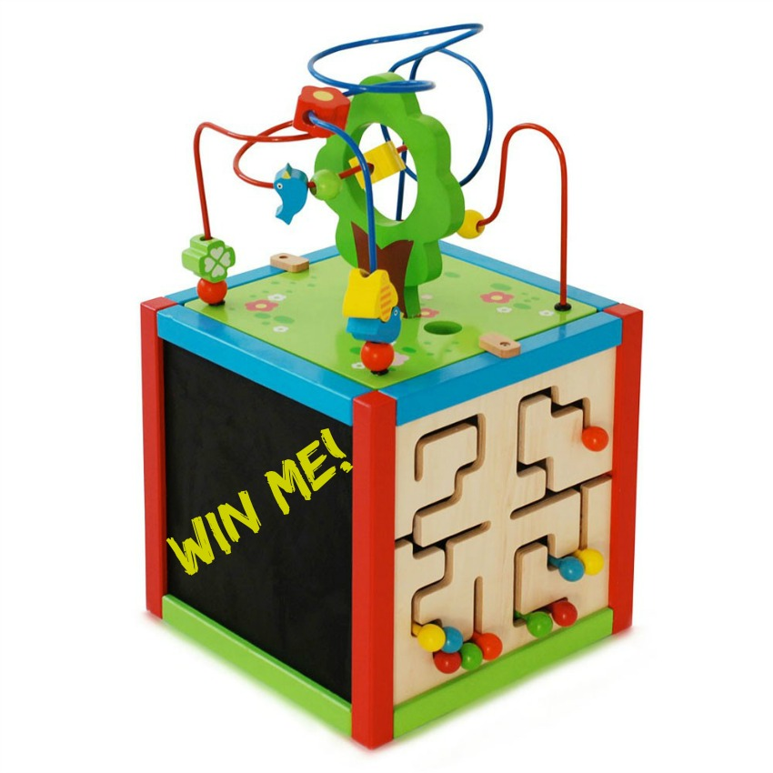 east coast wooden activity cube 1