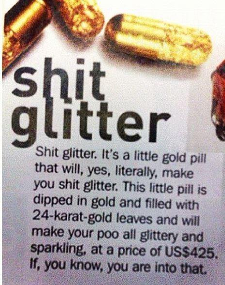 shit glitter