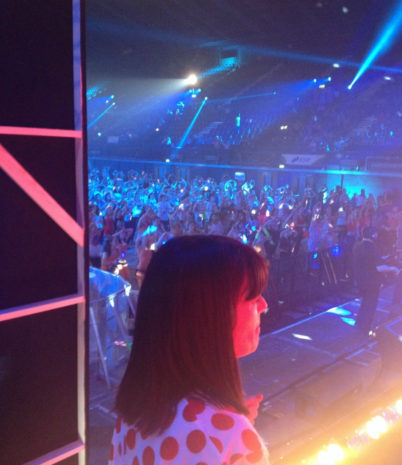 Back Stage at Wembley with Claudia