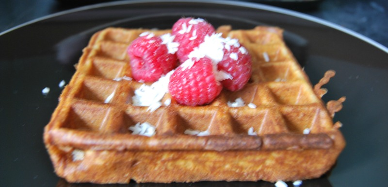 Coconut And Raspberry Waffles