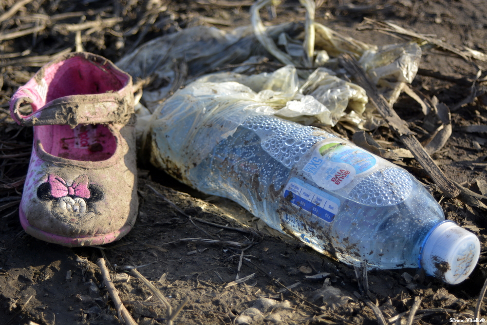 Child's shoe in Syria