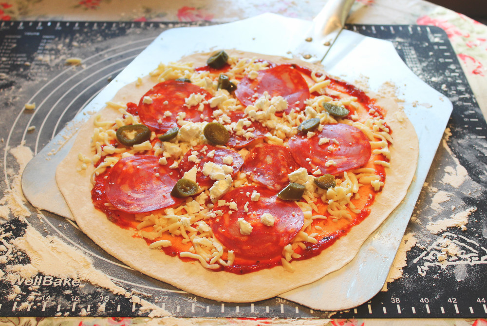 Pizza ready to cook