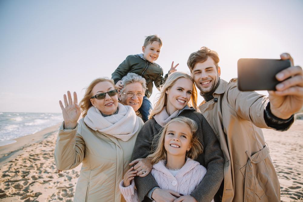 multi-generational holiday