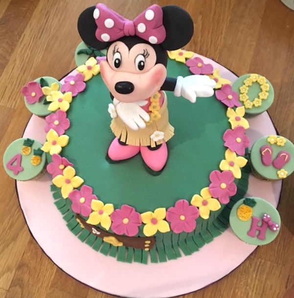 Tremendous Review Bespoke Minnie Mouse Birthday Cake From Fulhams Sweet Funny Birthday Cards Online Alyptdamsfinfo