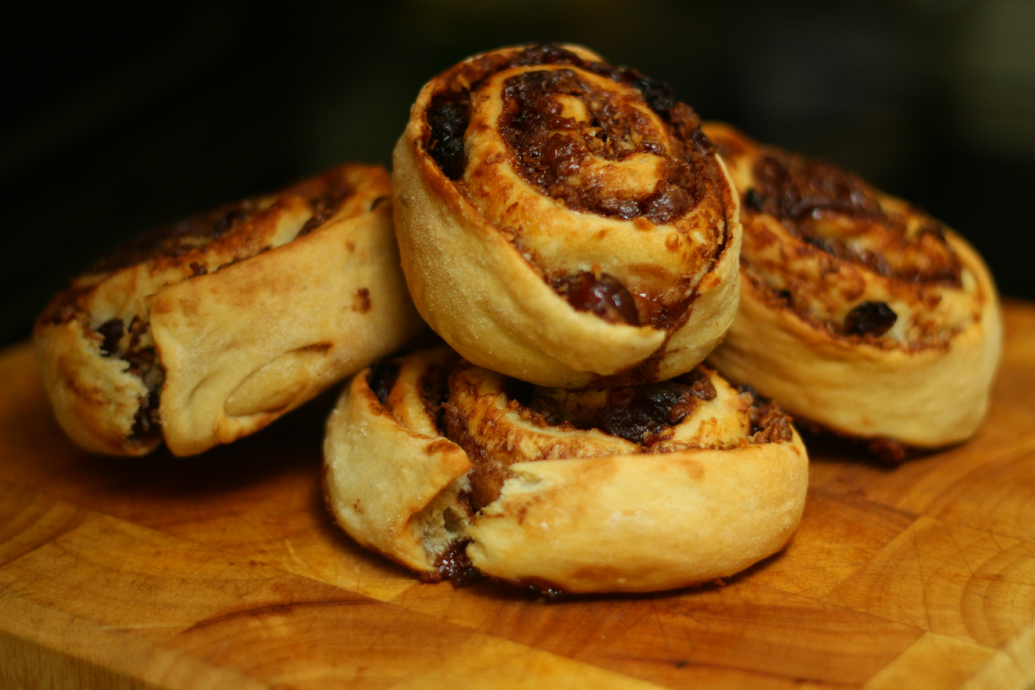 Chocolate, Coconut & Cherry Buns (GBBO #2)